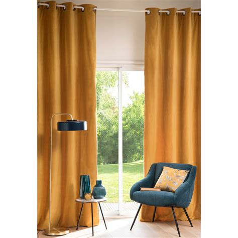 mustard yellow curtains savora mustard yellow velvet curtain 140 x 300 cm
