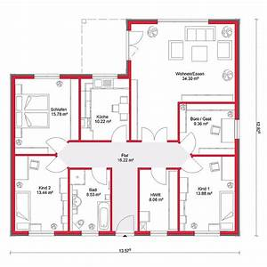 Grundriss Bungalow 100 Qm : grundrisse bungalow 130 qm ~ Frokenaadalensverden.com Haus und Dekorationen