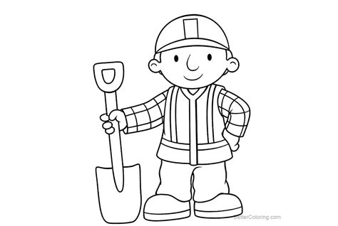 bob the builder coloring pages bob the builder coloring pages black and white free