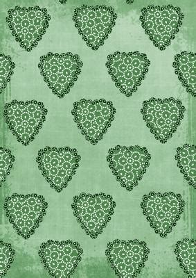 Mid Green Double Heart Beady A4 Backing Paper CUP395164