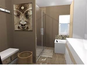 Salle De Bain Idée Déco : d coration de salle de bains mh deco ~ Dailycaller-alerts.com Idées de Décoration