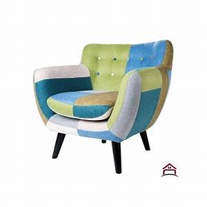 Fauteuil design tissus multi couleurs for Fauteuil couleur