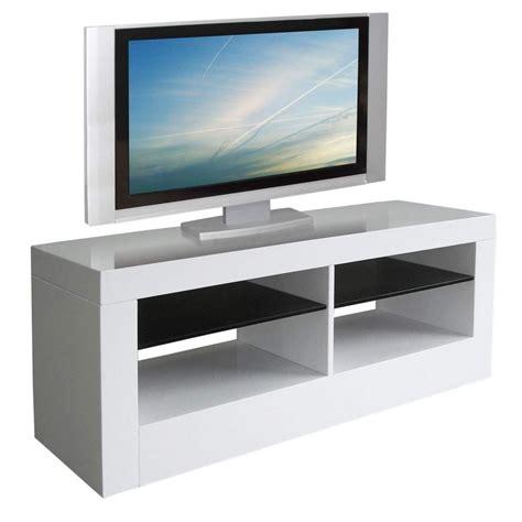 bureau le corbusier meuble tv haut blanc laque