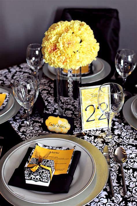 black white and yellow wedding colours primadonna