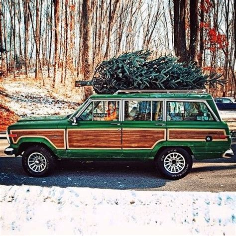christmas tree jeep station wagon what kind of and trees on pinterest