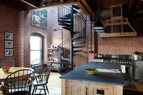 atelier de cuisine montreal la brique élément déco principal du loft