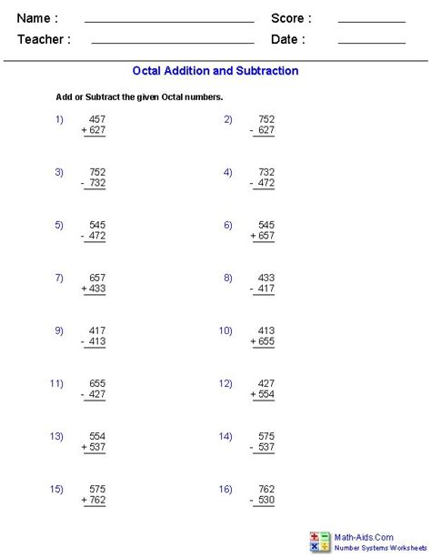 adding and subtracting rational numbers worksheet math