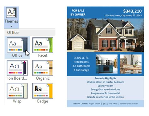 for sale by owner template fsbo flyer template for word