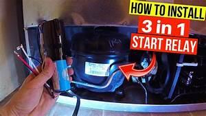 Fix Refrigerator  Installing Universal Relay  3 In 1 Starter  On Compressor -jonny Diy
