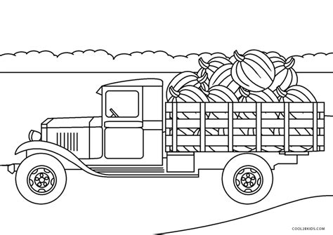printable truck coloring pages  kids