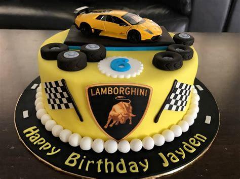 Jenn Cupcakes & Muffins Lamborghini Cake