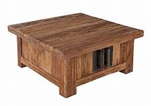 Couchtisch Truhe Holz : couchtisch truhe mit 4 t ren aus recyceltem teak holz 85x85 cm quadratisch laroc massiv holz ~ Markanthonyermac.com Haus und Dekorationen