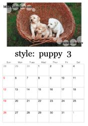 printable puppy calendars templates calendars print