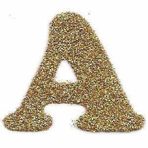 86 best images about the letter a on pinterest initials With gold glitter foam letters