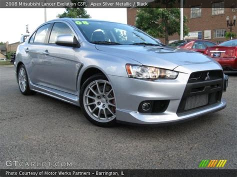 silver mitsubishi lancer black apex silver metallic 2008 mitsubishi lancer evolution