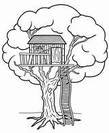 Treehouse Tree Drawing Clipart Step Easy Graphics Progress Google Getdrawings sketch template