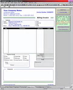 Sample Billing Invoice Form