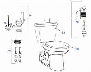 Commode Toilet Parts