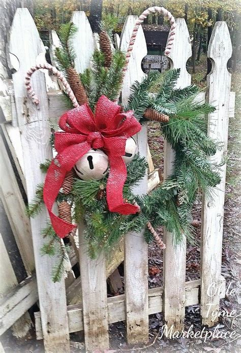 christmas  fence  pinterest