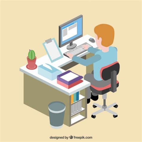 employe de bureau employé de bureau dans lieu de travail télécharger
