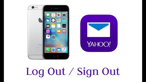 yahoo mail app for iphone how to log out sign out yahoo mail app on iphone ipod