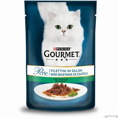 Gourmet Perle 85g Gatto Coniglio Filettini Salsa