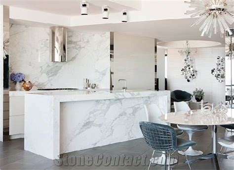 Statuario Venato Marble Kitchen Countertop from Bosnia and