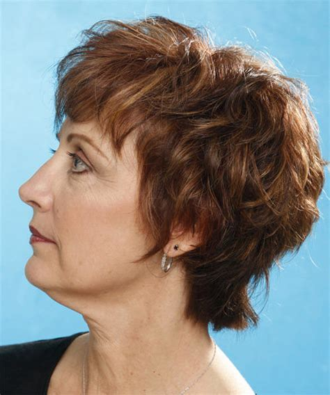 Brunette Short Curly Wedge Hairstyle   Careforhair.co.uk