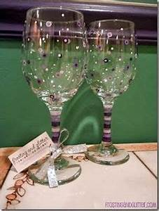 Wine Glasses Glass Painting on Pinterest