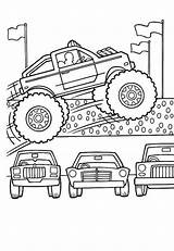 Coloring Monster Truck Pages Cars Lamborghini Colouring Jump Few Amazing Transportation sketch template