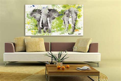stickers porte chambre tableau eléphants décoration murale izoa
