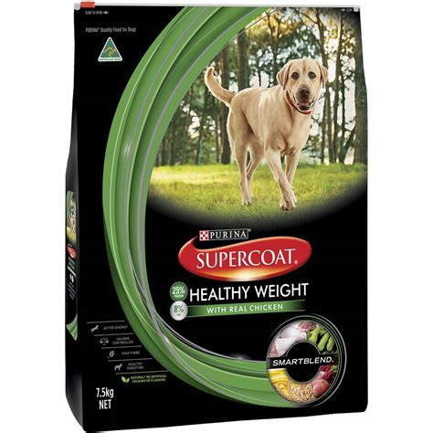 supercoat adult dog food healthy weight woolworths