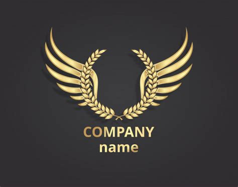 Gold Wings Logo Company Vector