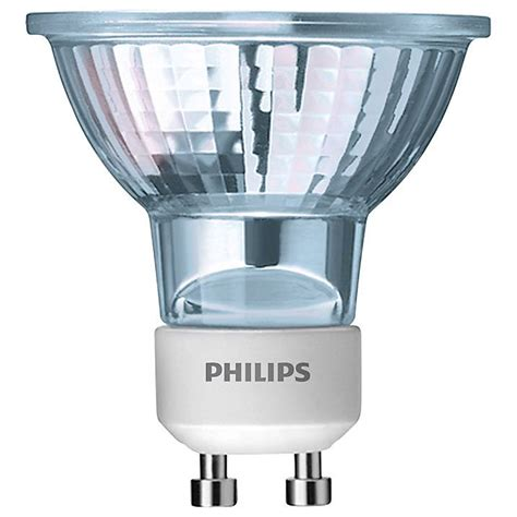 pack of 3 philips halogen 50 watt gu10 clear bulbs