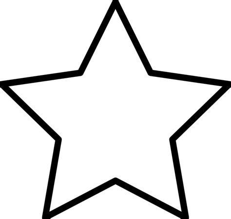 large star template template