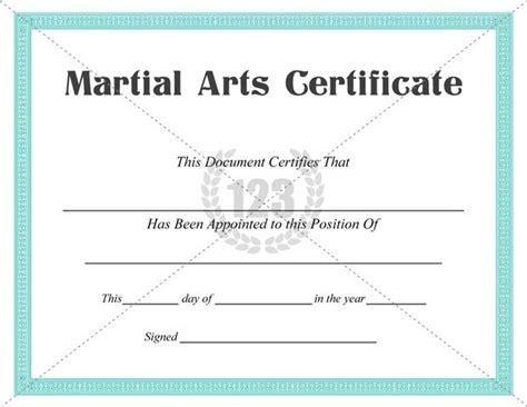 martial arts certificate templates