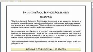 swimming pool service agreement youtube With pool service contract template