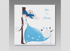 Lustige Hochzeitseinladungskarte mit ComicPaar