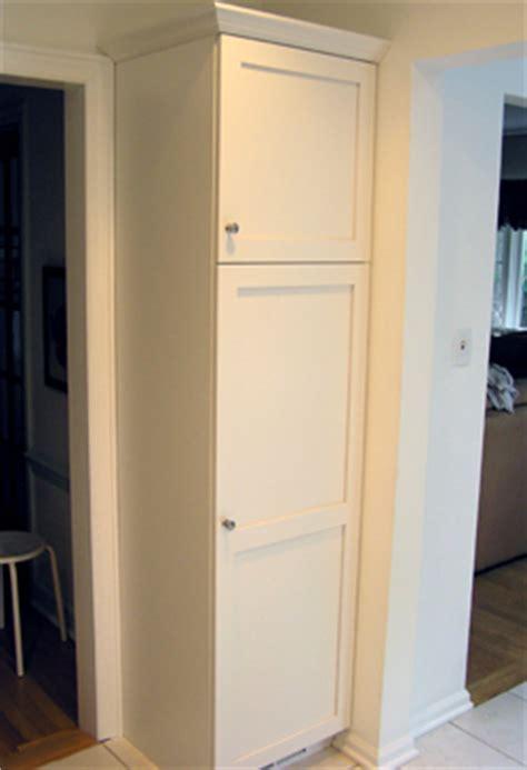 white frameless shaker style kitchen