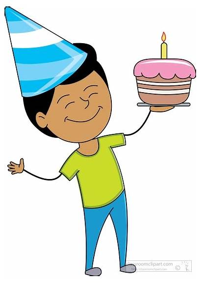 Birthday Boy Clipart Happy Cake Holding Brother