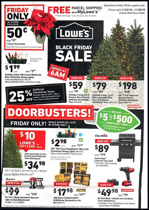 black friday christmas tree sales home depot lowe s black friday 2019 ad deals and sales
