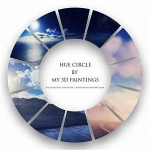 Hue circle by my 3d paintings by GeneRazART on DeviantArt