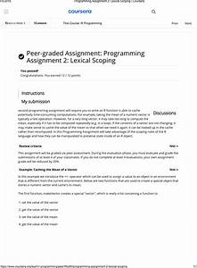 Programming Assignment 2 Lexical Scoping Coursera Instructions