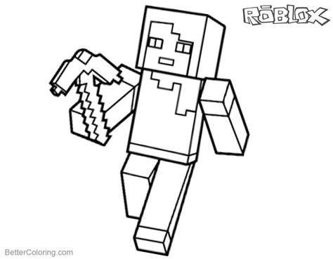 Kleurplaat Roblox Noob by Roblox Characters Coloring Pages Coloring Pages