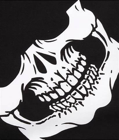Skull Jaw Drawing Bandana Mask Face Installation