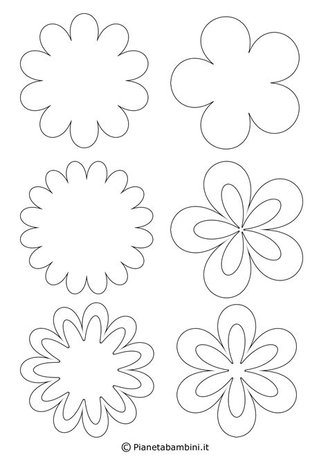 animali colorati da ritagliare 81 sagome di fiori da colorare e ritagliare per bambini