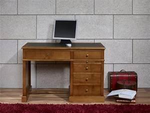 Bureau En Bois Massif : petit bureau lucie en merisier de style louis philippe meuble en merisier massif ~ Teatrodelosmanantiales.com Idées de Décoration