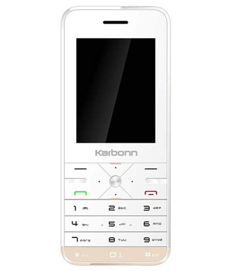 k phone buy karbonn mobile k phone 9 white on snapdeal