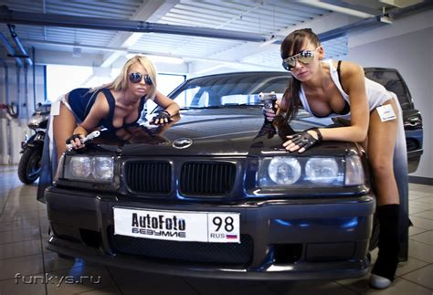 hot russian girls  tuned cars