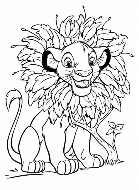 printable simba coloring pages  kids
